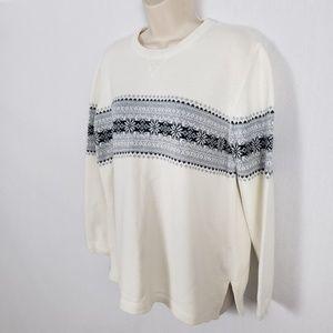 Eddie Bauer Sweaters - Eddie Bauer Sweater Size Large Fair Isle Cotton